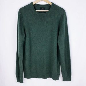 J. Crew Forest Green Italian Cashmere Sweater